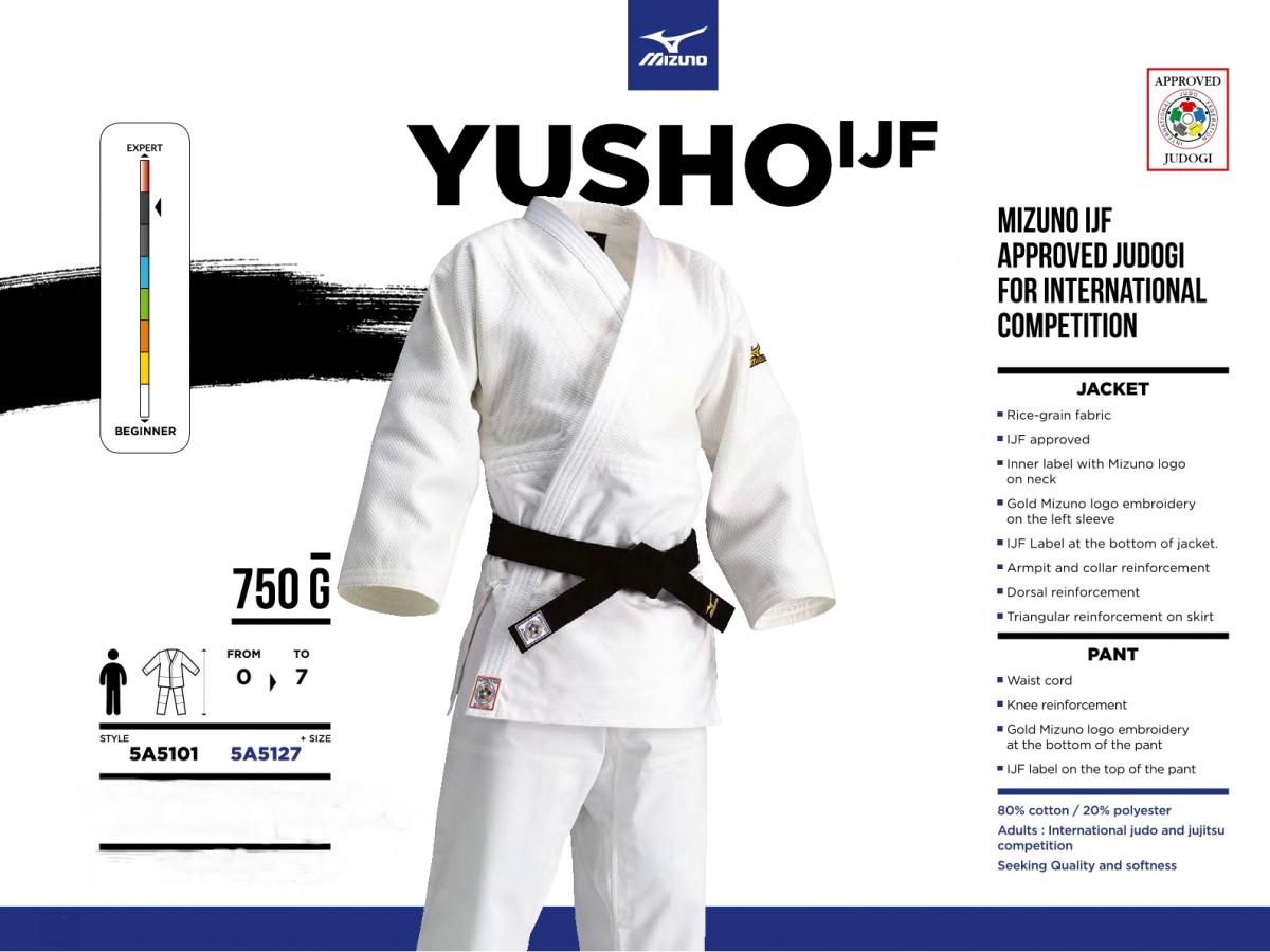 Кимоно для дзюдо Mizuno Yusho IJF-Approved, 750гр.
